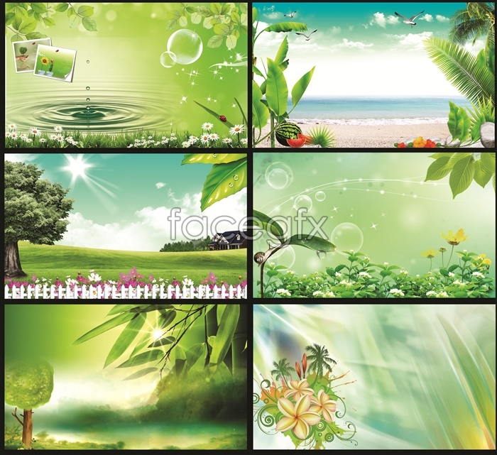 pictures backgrounds psd design layout spring of atmosphere