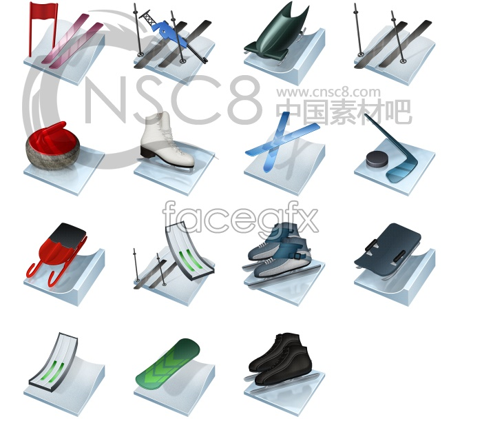 Skate ski tools icon