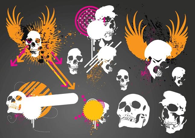 Skulls Graphics vector free