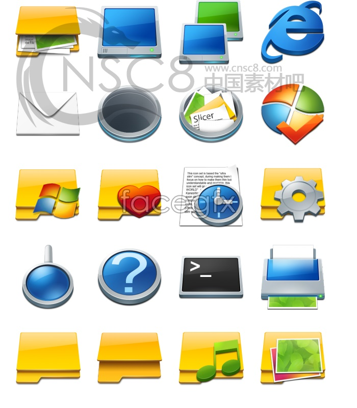 Slice icon series