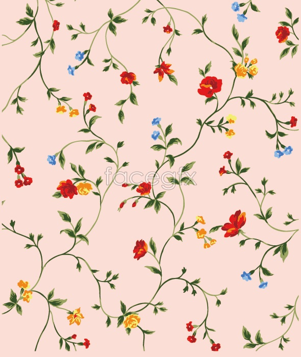 Small Flower Background Vector