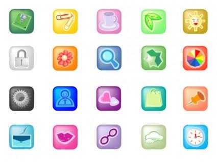 small square icon vector