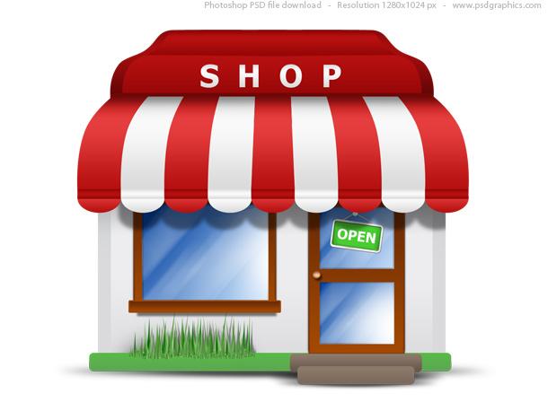 Small store icon (PSD)