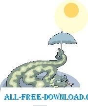 Snake with Umbrella