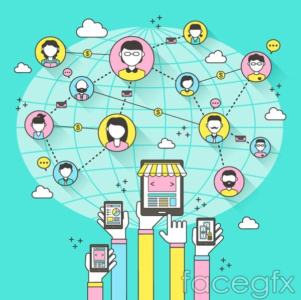 Social networking illustration vector over millions vectors social networking illustration vector free download toneelgroepblik Images