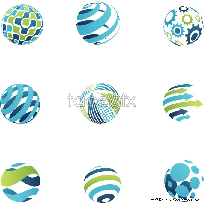Solid circle logo design vector over millions vectors for Logo site web
