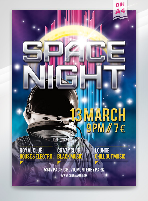 Space Night Flyer