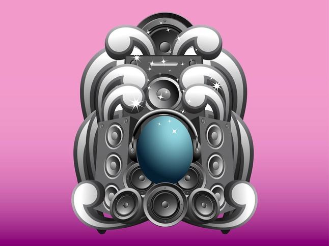 Speakers Design vector free