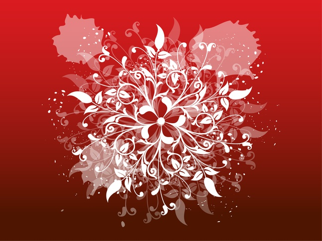 Spiral Flower vector free