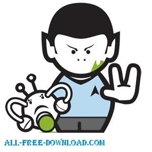 Spock Star Trek Cartoon