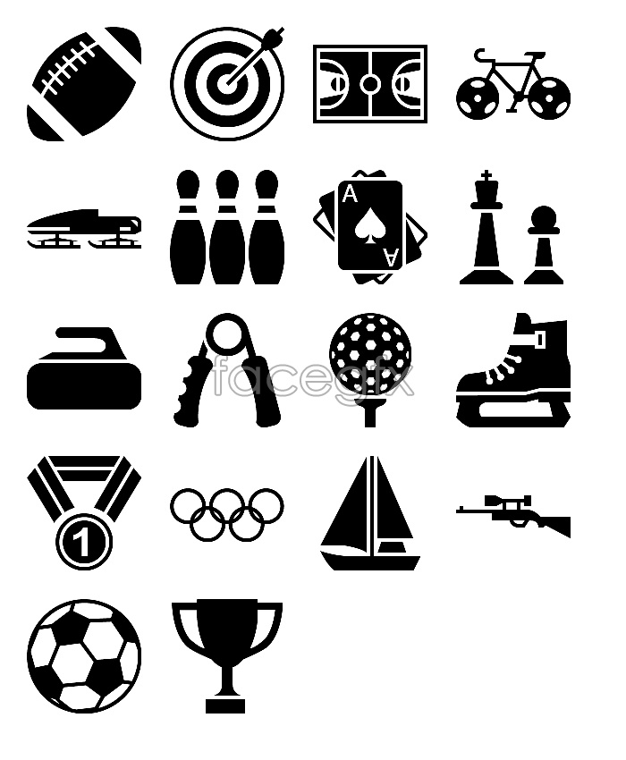Sports flags icons