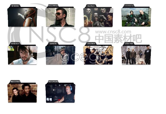 Stars of folder icons