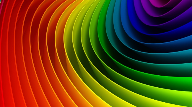 Stereo-rainbow-colored HD pictures