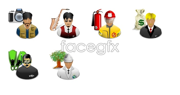 Steve Jobs character icons