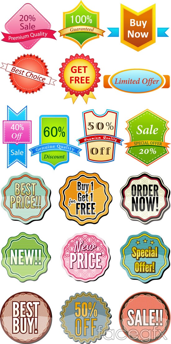 Stores sell stickers vector – Over millions vectors, stock