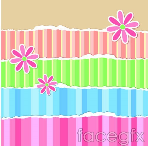 Striped paper backgrounds vector