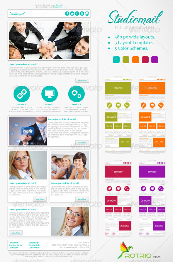 StudioMail – PSD Email Template