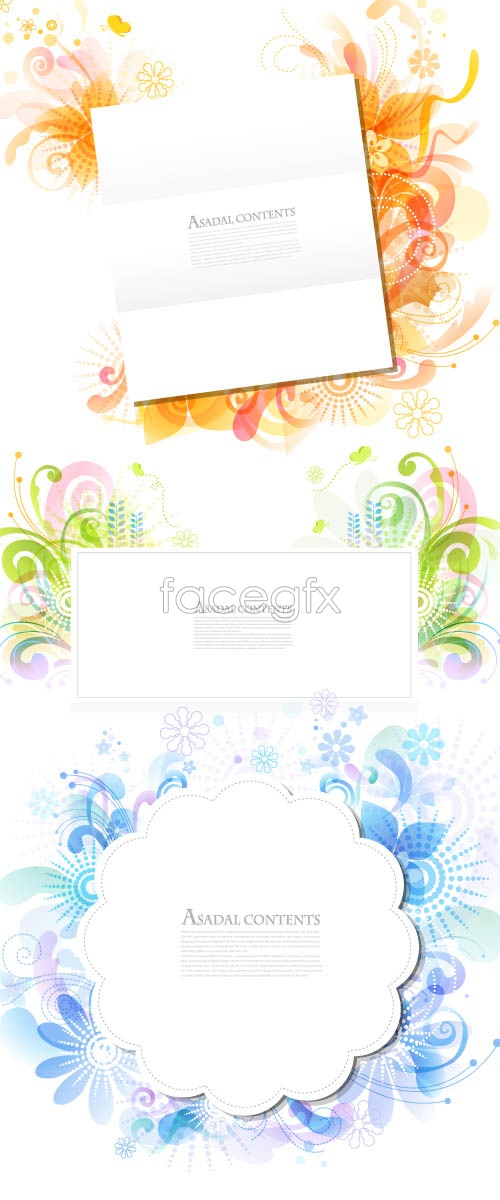 Stylish patterns and white Vector