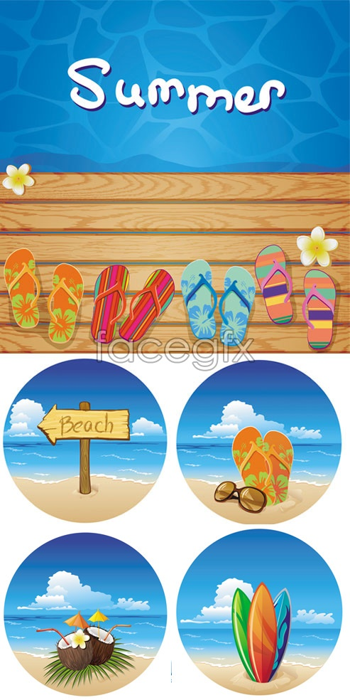 Summer beach beach background vector – Over millions ...