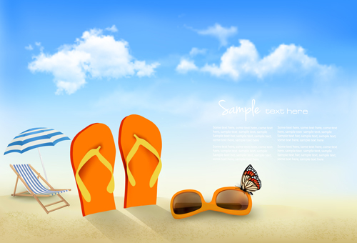 Summer beach vacation background art vector 04 free over summer beach vacation background art vector 04 free toneelgroepblik Gallery