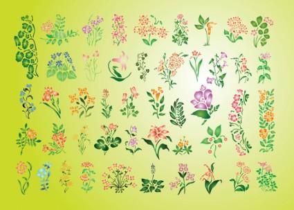 Summer Flowers Set