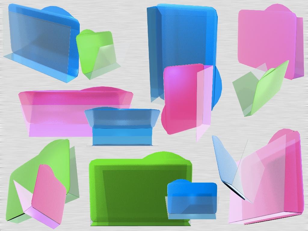 Summer Glassy 3D FolderIconWIN