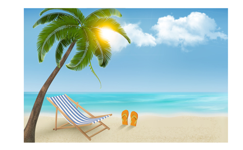 Summer Holidays Happy Travel Background Vector Graphic 01 Free