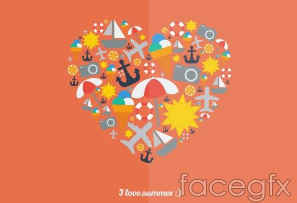 Summer of love illustration vector