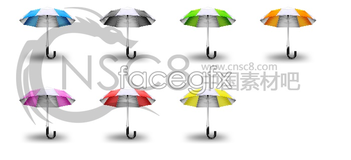 Summer Sun umbrella icons