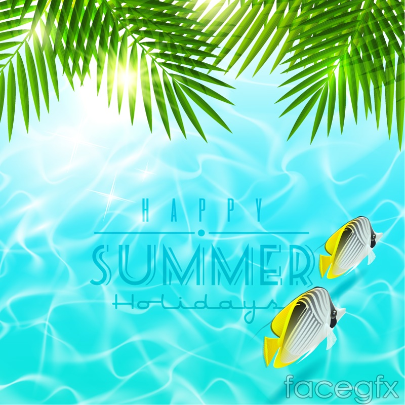 Summer Tropical Fish Background Vector  Over Millions Vectors