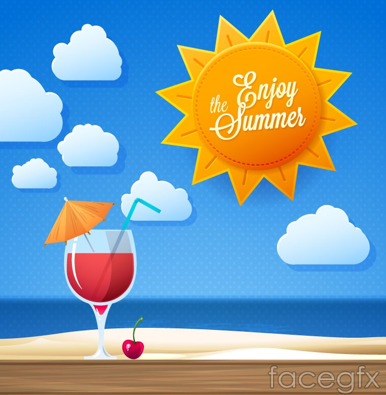 Sunny summer holiday vector background