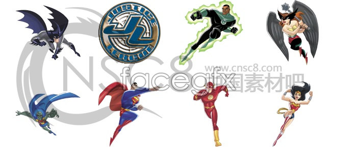 Super human icon collection