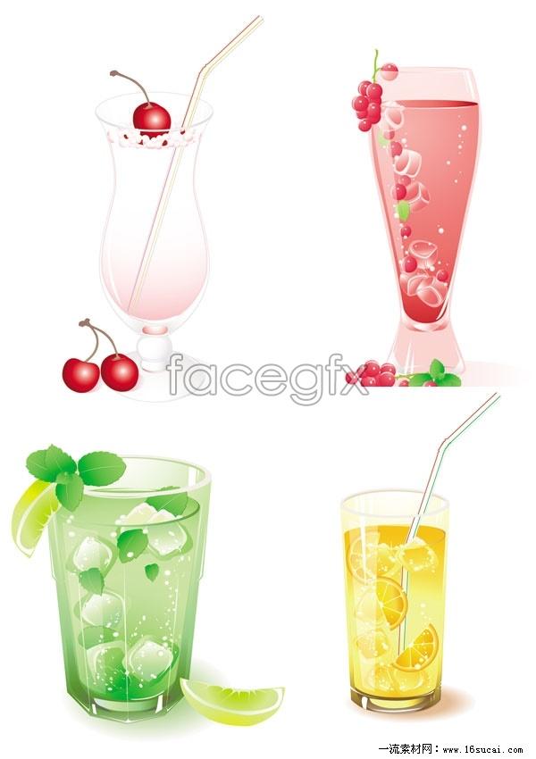 Super refreshing feeling of summer fruit, vector