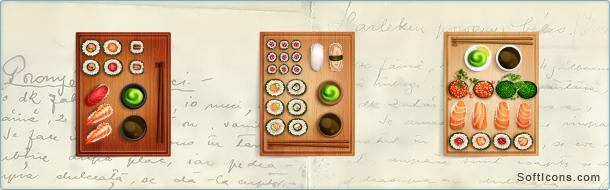Sushi Sets Icons