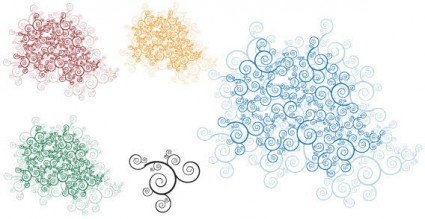 Swirl ornaments free vector