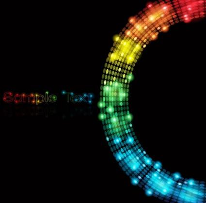 symphony of light vector dot background 4