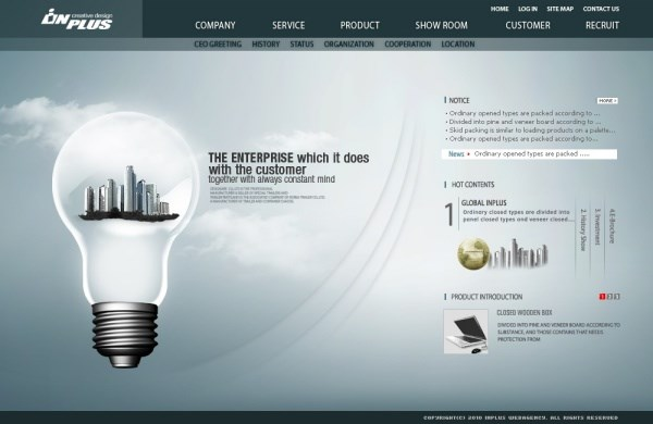 Technology energy-saving theme page templates psd – Over millions ...