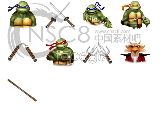 Teenage Mutant Ninja turtles movie icons