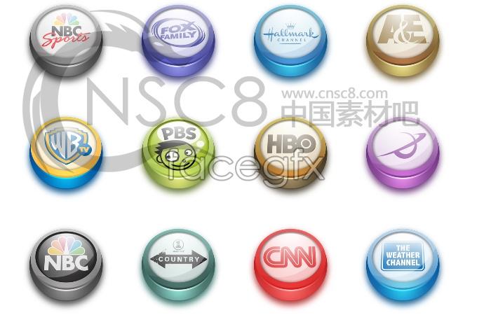 Television station logo icons
