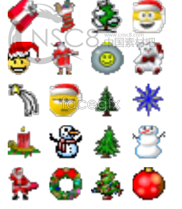 Texture and small Christmas icons
