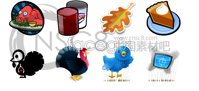 Thanksgiving computer icons