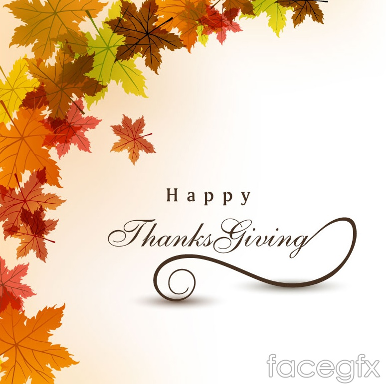 Thanksgiving Maple Leaf Chinese Restaurant Poster Vector