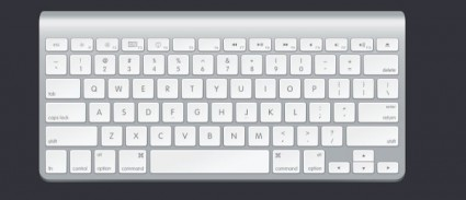 the apple keyboard psd layered