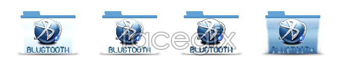 The Bluetooth folder icons