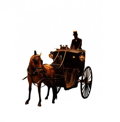 the european aristocracy gorgeous carriage and servant