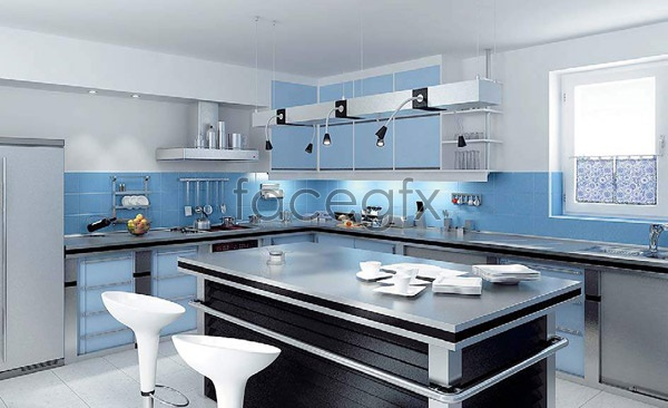 The kitchen restaurant picture 3D model