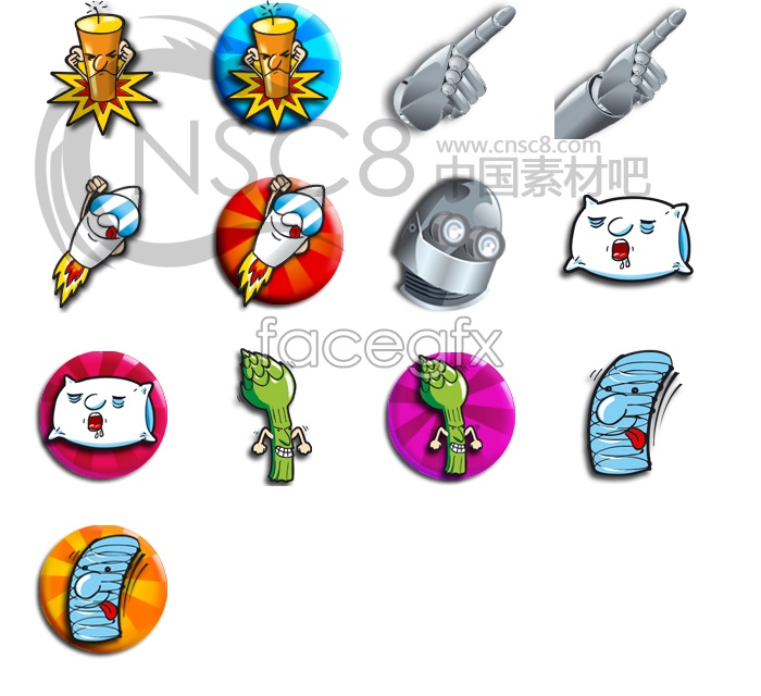 The metal Monster icons