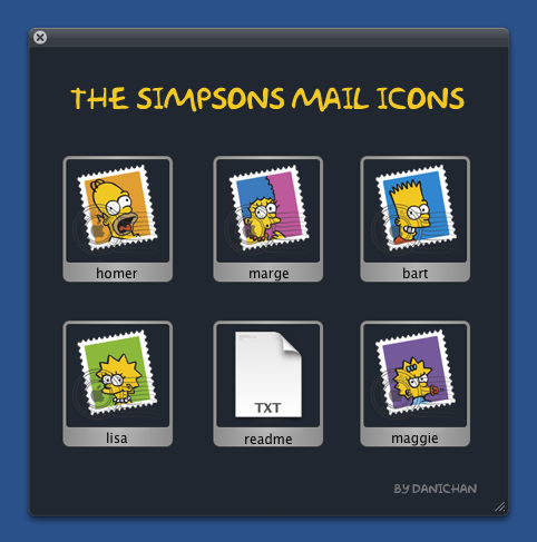 The Simpsons Mail Icons