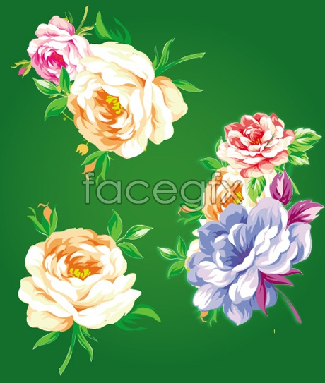 Traditional Chinese flower vector