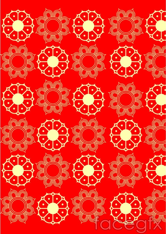 Traditional festive patterns vector